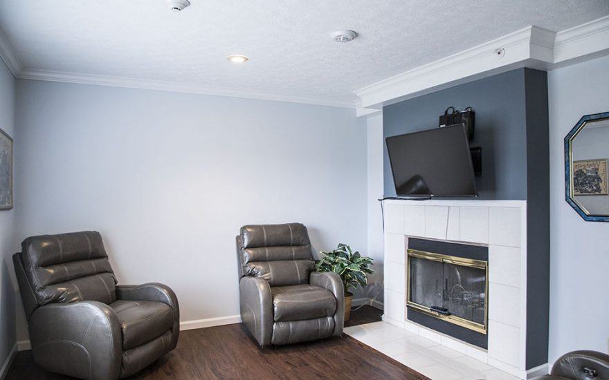 Living room of a house with TV